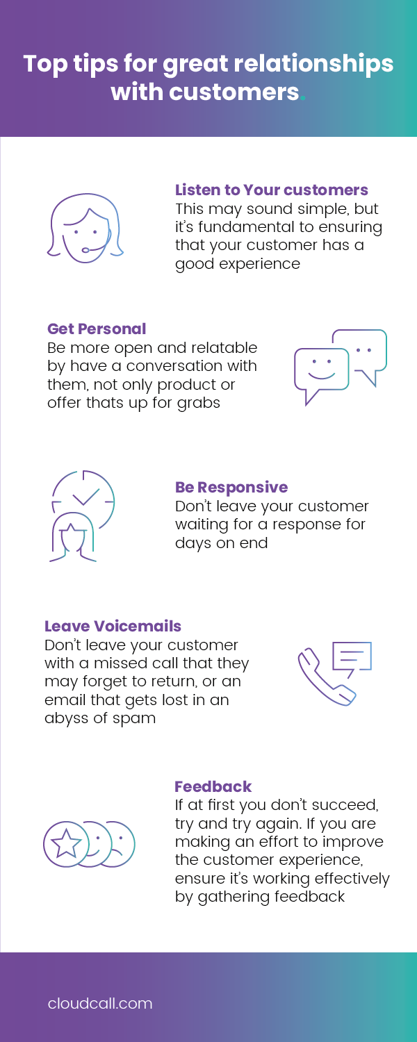 tips for great relationships with customers