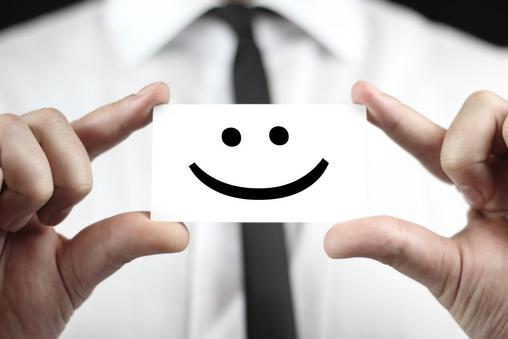 Smiley face, smile, business,tie,