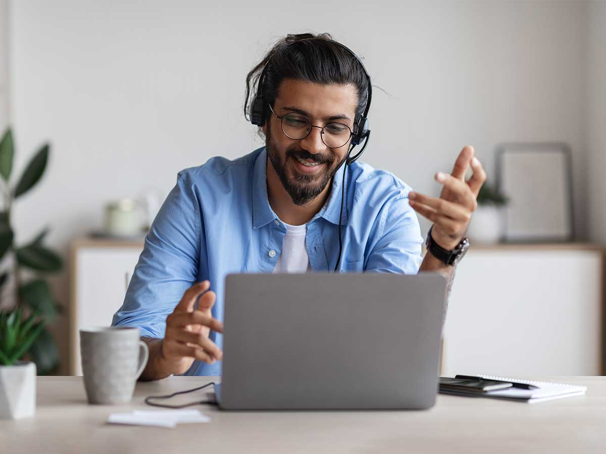 male using crm integrations for customer service